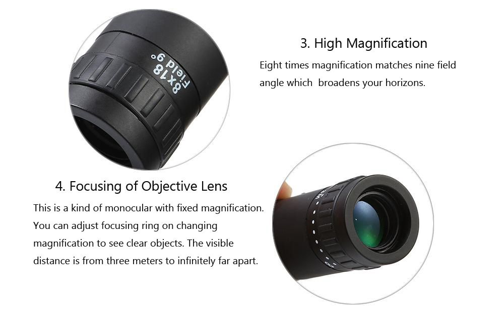 Multi-coated Monocular 8 x 18