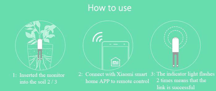 Original Xiaomi Mi Plant Flowers Tester Pot Soil Moisture Humidity Temperature Light Garden Monitor