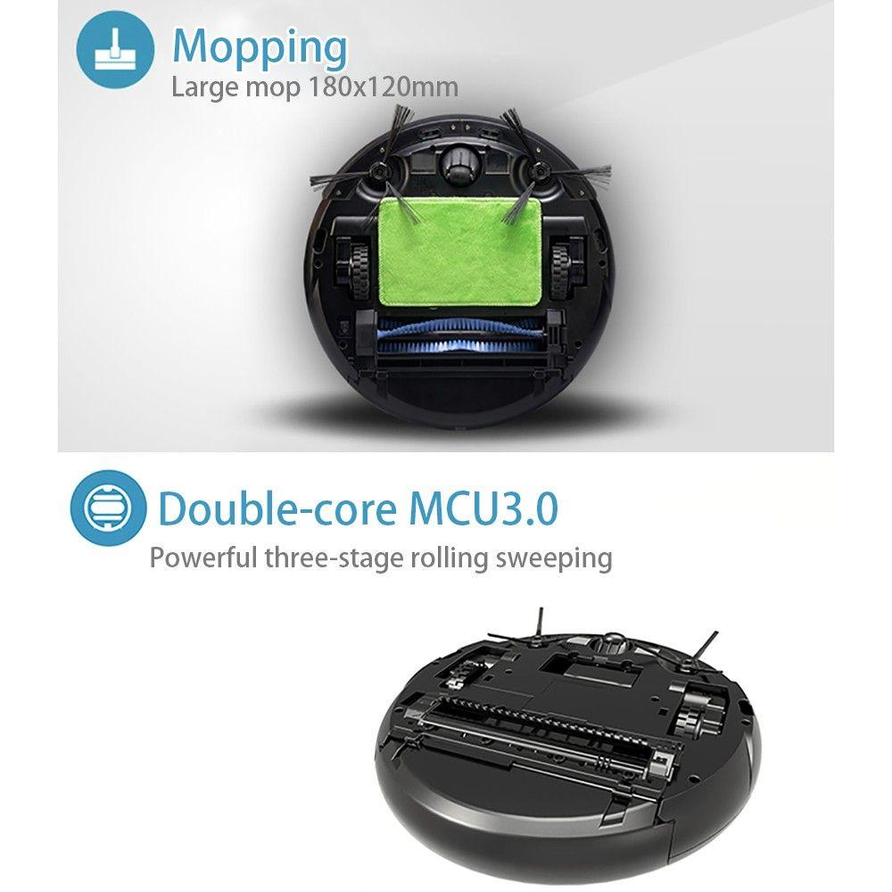 JISIWEI S+ Smart Robotic Vacuum Cleaner TPU Avoidance Sensor Remote Mobile APP Control HD Camera Robot Mopping Tool