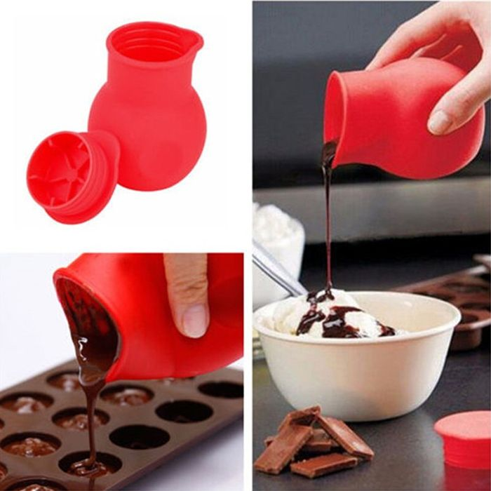 DIY Melted Chocolate Cup Silicone Baking Mold for Fondant Sugar
