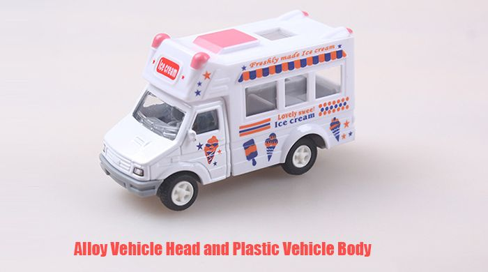 Ice Cream Car Style Cartoon Pullback Vehicle Mini Alloy + Plastic Racer - 1pc