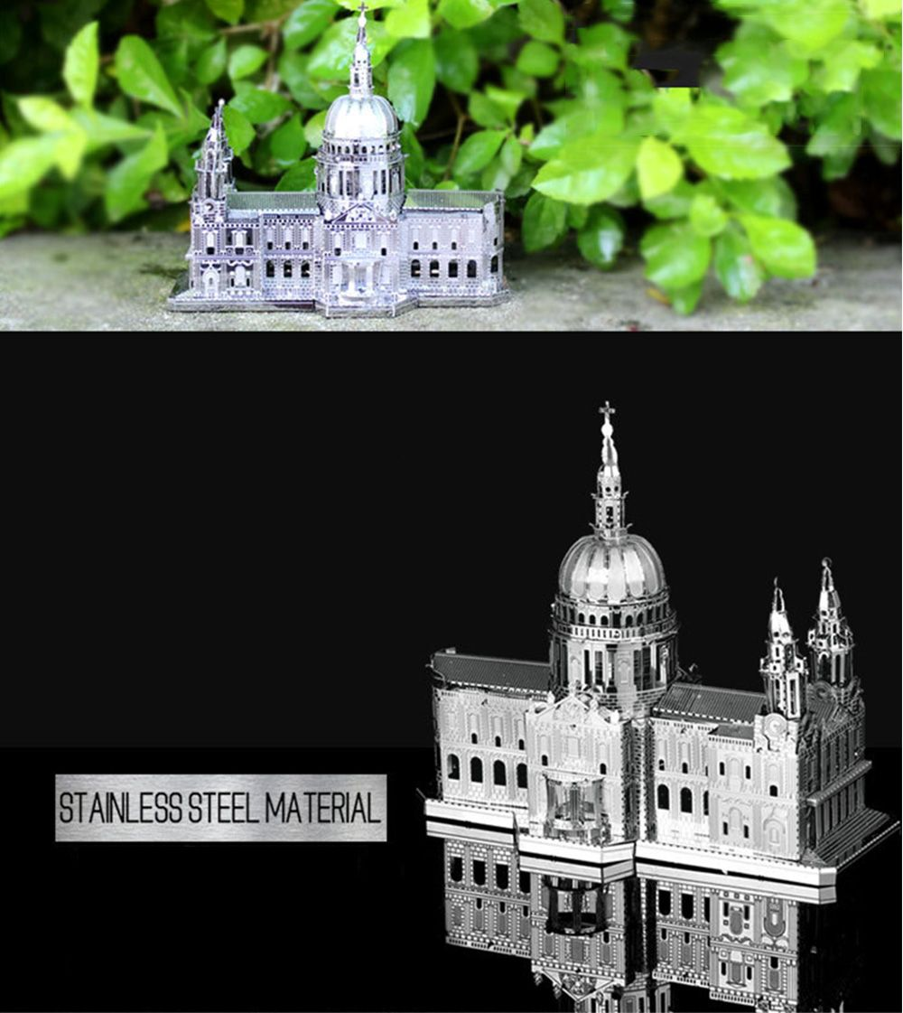ZOYO 3D Metal Church Style Metallic Building Puzzle Educational Assembling Toy