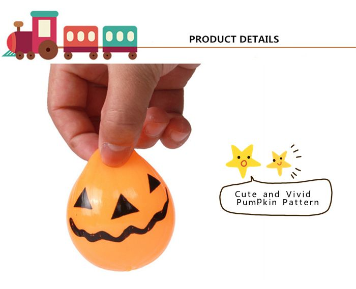 Novelty Elastic Squeeze Halloween Pumpkin Stress Release Vent Relax Toy for Kid