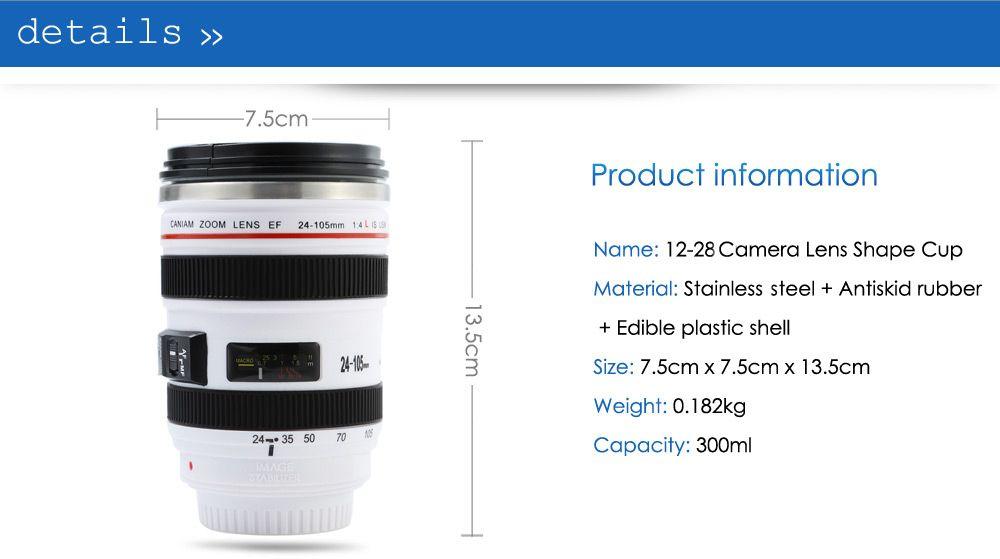 12 - 28 Camera Lens Shape EF 24 - 105mm 1:4 L IS USM Drink Cup Mug
