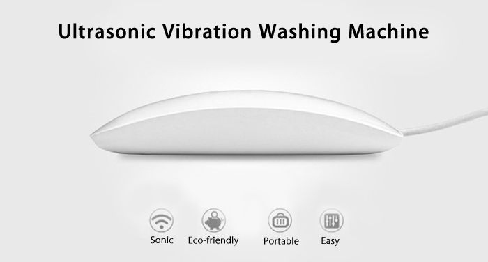 leeHUR Portable Mini Ultrasonic Washing Machine