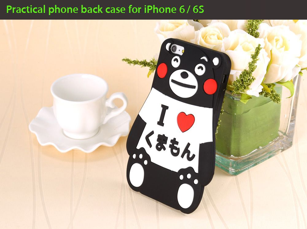Cute Cartoon Bear Style Soft Protective Phone Back Case for iPhone 6 / 6S