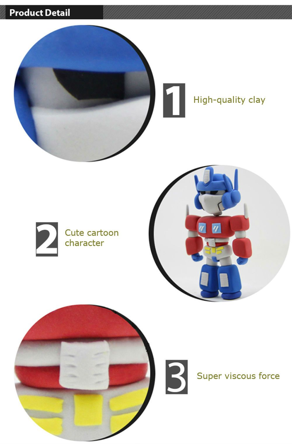 Colored Modeling Clay DIY Toy for Reducing Stress