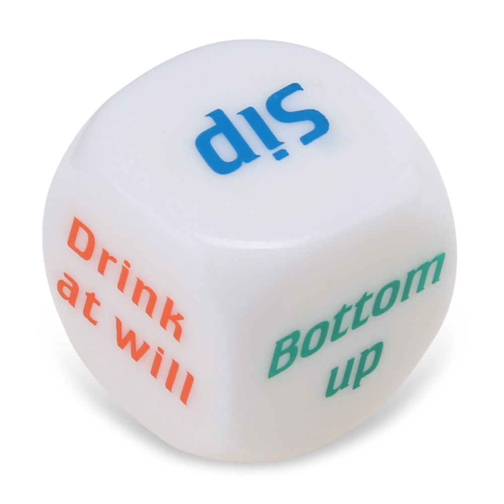 1pcs Drink Decider Games Bar Party Pub Dice Funny Toy Drinking Game