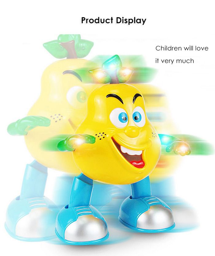 Walking Dance Pear with Light Children Intelligent Toy - 1pc