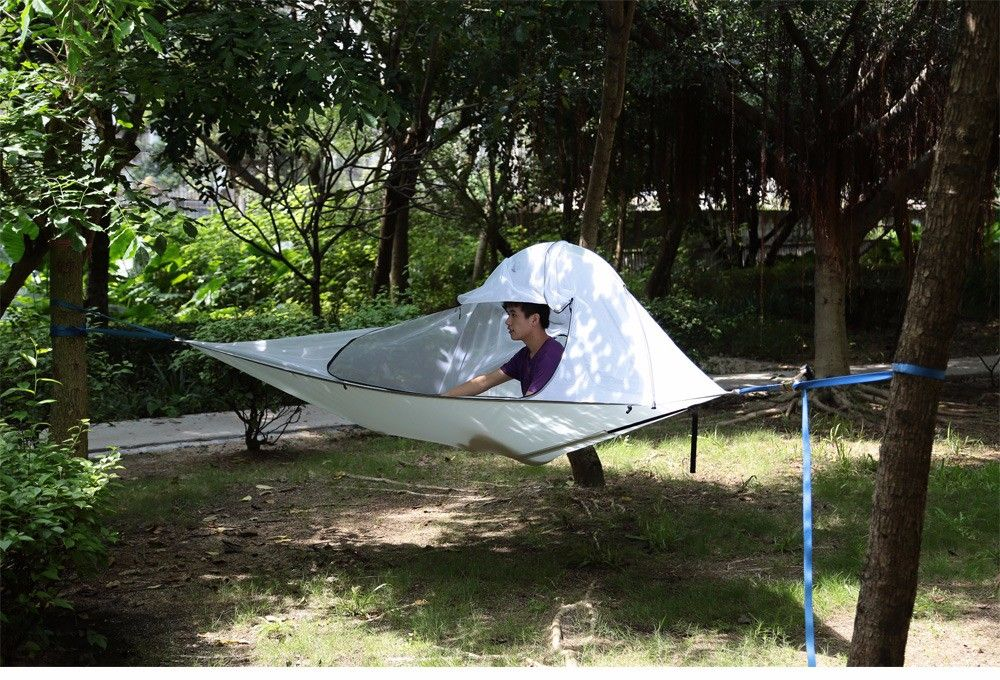 Camping Suspended Hammock with 220kg Loading / 190T Nylon Cover