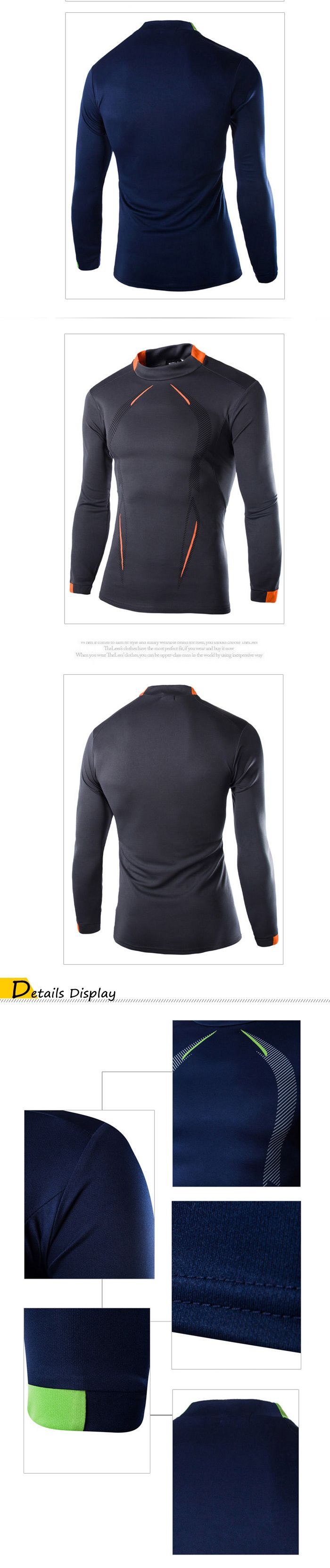 Men Printed Long Sleeve Tight Fitness T Shirt