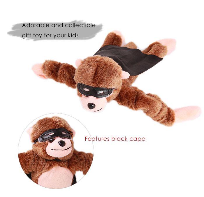 Flying Screaming Plush Monkey Slingshot Toy for Children