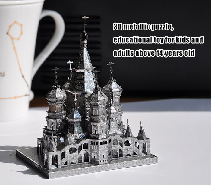 ZOYO 3D Metal Architecture Style Metallic Building Puzzle Educational Toy