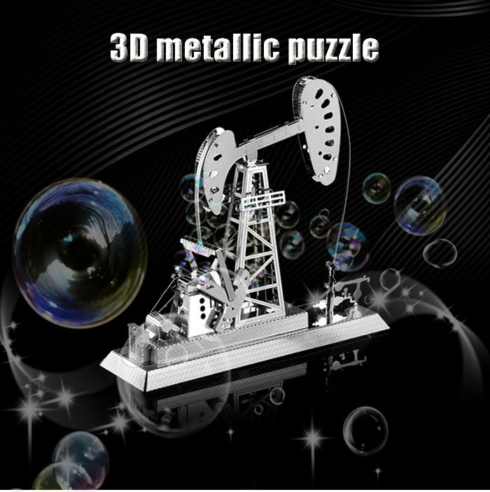 ZOYO 3D Metal Oil Drilling Machine Style Metallic Model Educational Assembling Puzzle Toy