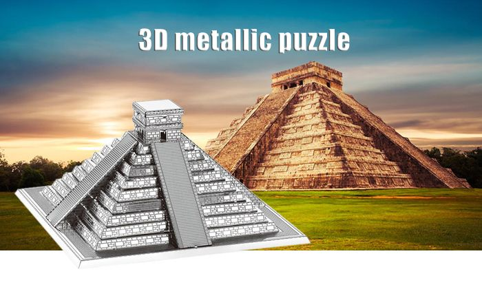 ZOYO 3D Metal Architecture Metallic Building Puzzle Educational Assembling Toy
