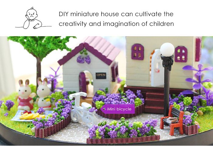 Intelligence Wooden DIY House Miniature Kit 3D Jigsaw Puzzle