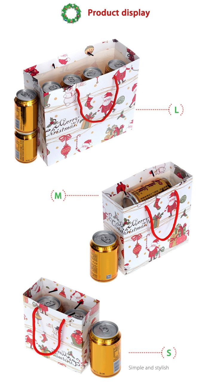 3PCS Christmas Cartoon Souvenir Present Bags Festival Product