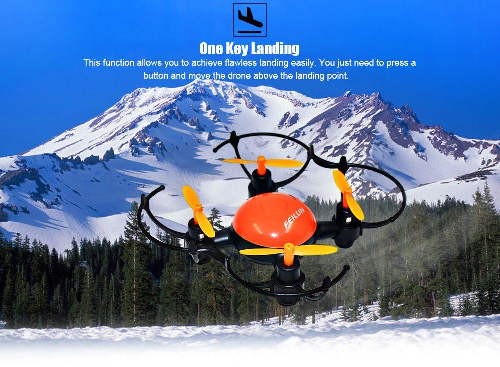 FEILUN FX133 Mini RC Drone RTF 2.4GHz 4CH 6-axis Gyro with Headless Mode 360 Degree Eversion