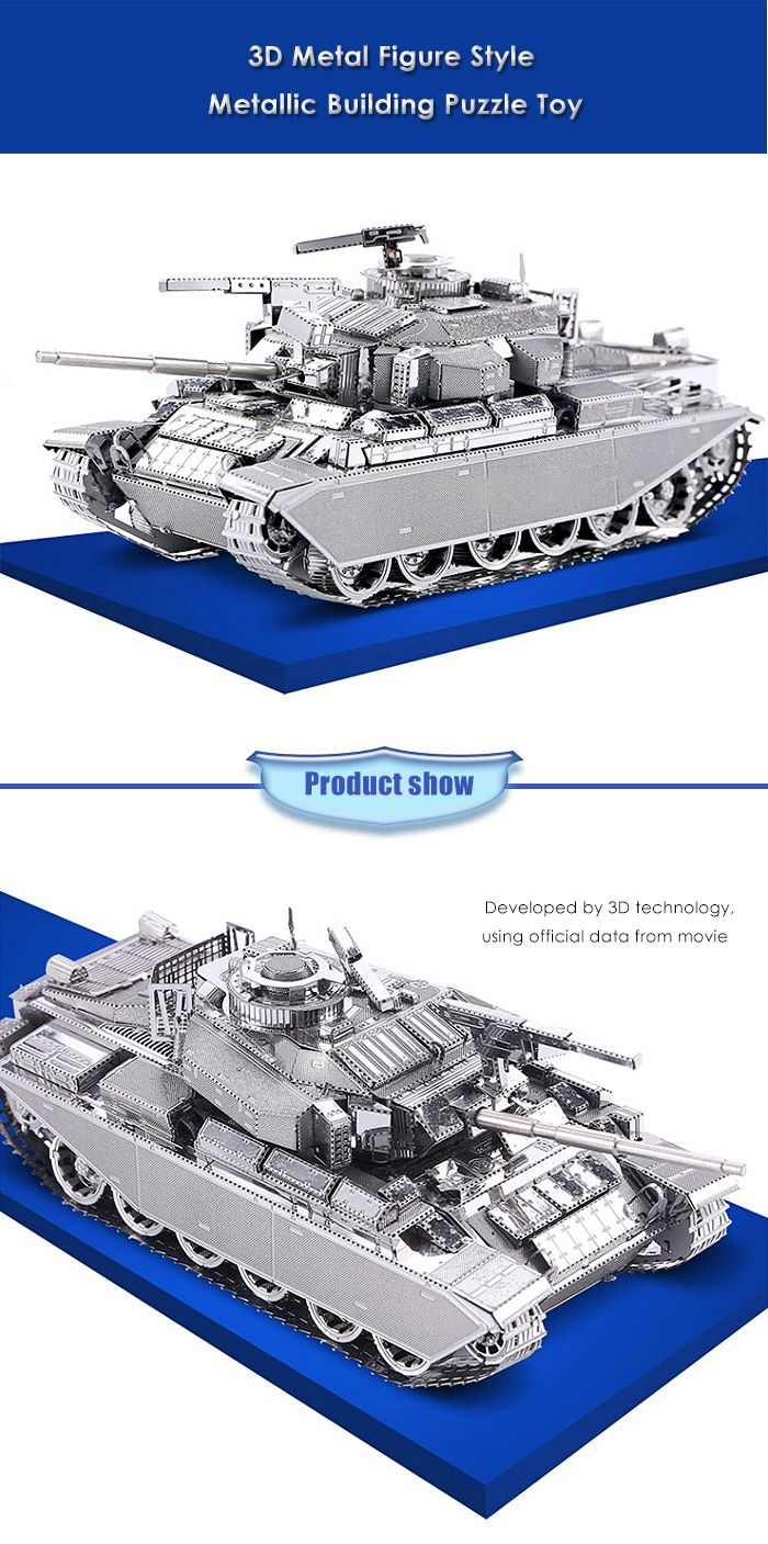 ZOYO Tank Shape 3D Metallic Building Puzzle Educational Assembling Toy
