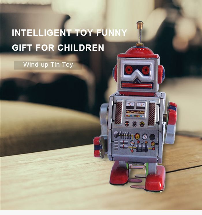 Classical Robot Design Clockwork Tin Toy Intelligent Present for Kid