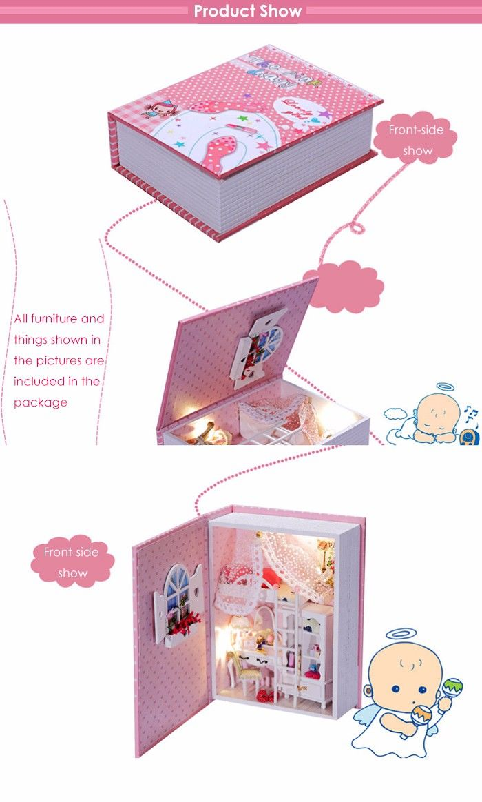House Design DIY Miniature Box Diary Idea Art Handicraft Gift
