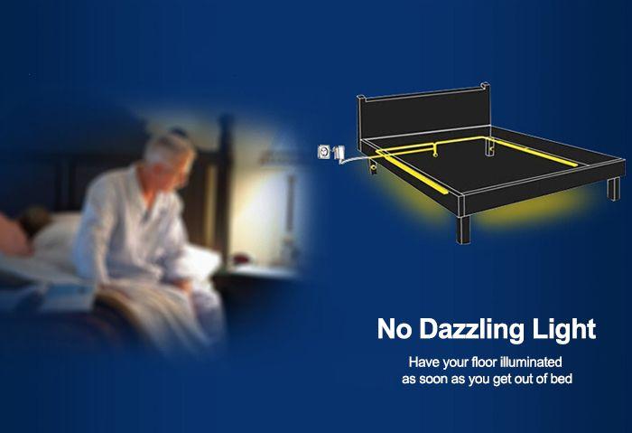 Brelong 1 2m 36 Led Motion Sensor Light Strip Under Bed Night Lights