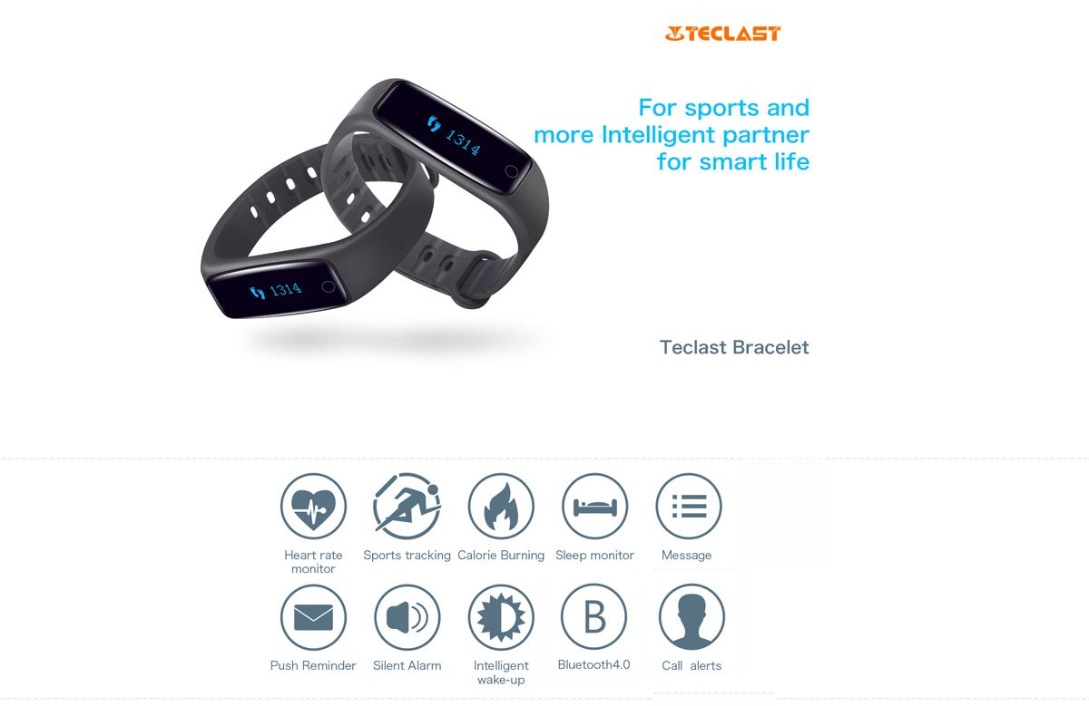 Teclast H30 Sleeping Track Heart Rate Monitor Smart Wristband