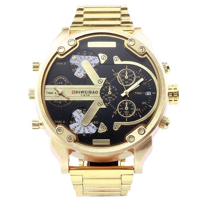 Shiweibao A3137 Double Movt Date Function Male Quartz Watch