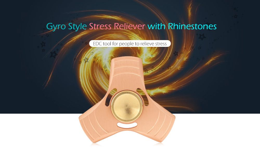 Aluminum Alloy Gyro Style Stress Reliever Pressure Reducing Toy for Office Worker