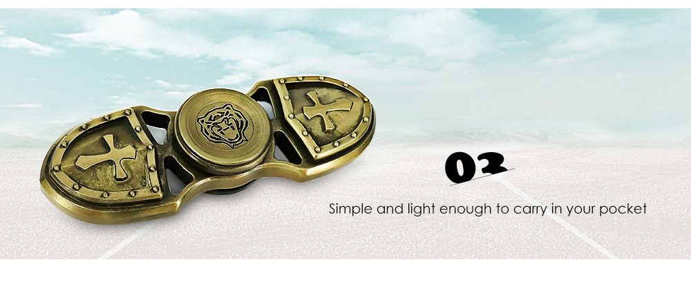 Zinc Alloy Gyro Style Stress Reliever Pressure Reducing Fidget for ADHD for Office Worker