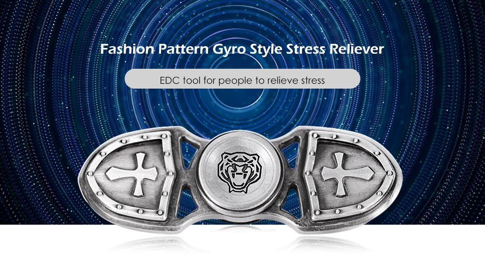 Zinc Alloy Gyro Style Stress Reliever Pressure Reducing Toy for Office Worker