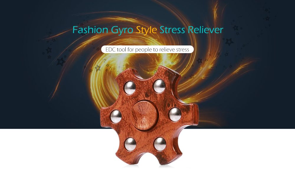 Colorful Hexagon Fidget Spinner ADHD Stress Relief Toy Relaxation Gift for Adults