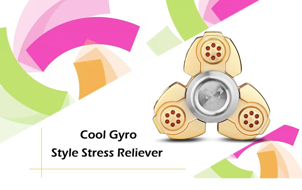 Titanium Alloy Gyro Stress Reliever Pressure Reducing Toy for Office Worker