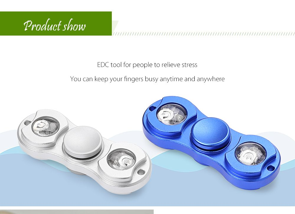 LED Light Gyro Fidget Spinner Stress Reliever Pressure Reducing Toy for Office Worker