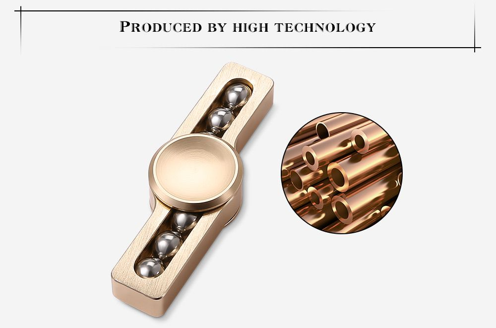 Gyro Stress Reliever Pressure Reducing Fidget for ADHD with Six Rotating Bead for Office Worker