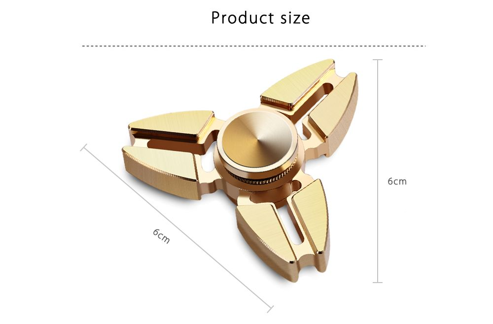 Triangle Copper Gyro Stress Reliever Pressure Reducing Toy for Office Worker