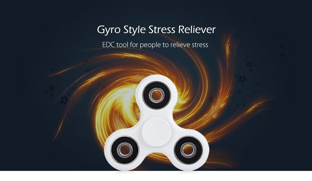 ABS Plastic ADHD Fidget Spinner Stress Reliever Toy Relaxation Gift