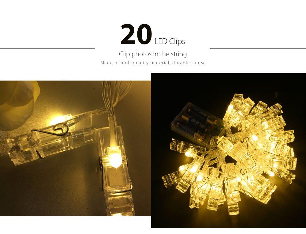LED 20pc-clip Light String Warm White Lights Decorative Lights  sc 1 st  RoseGal & Warm White Light Led 20pc-clip Light String Warm White Lights ...