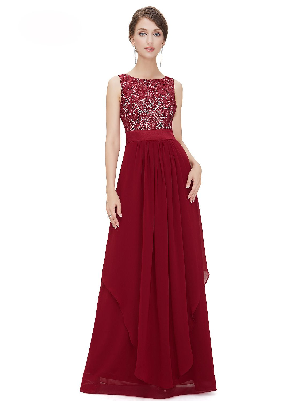 Red 2xl Elegant Long Cocktail Dress | RoseGal.com