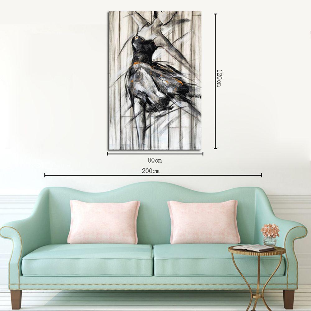 Colormix 80cmx120cm Hx-art No Frame Canvas Living Room Black And ...