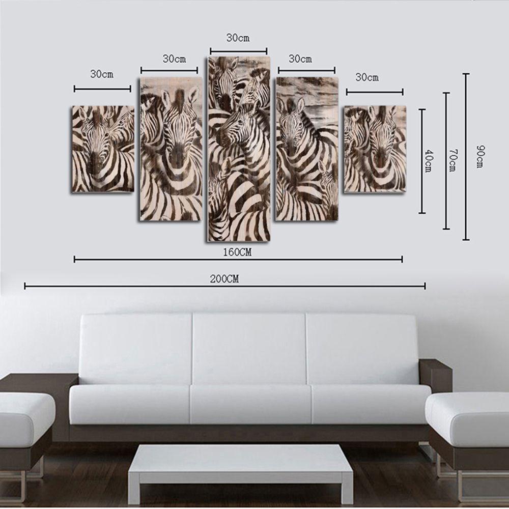 Colormix Hx-art No Frame Canvas Five-set Painting-46 Living Room ...