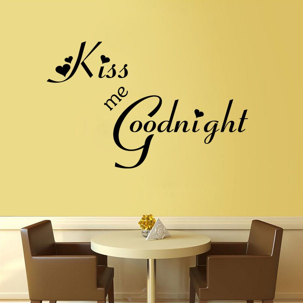 Black 26 X 58 Cm Sweet Art Wall Decal Removable Vinyl Quotes ...