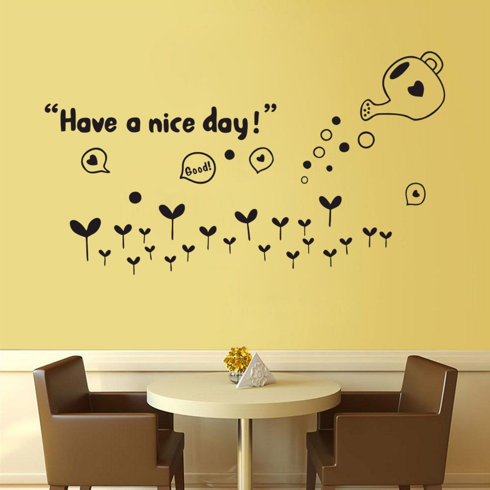 Black Dsu Diy Have A Nice Day Words Art Vinyl Wall Sticker Mural ...