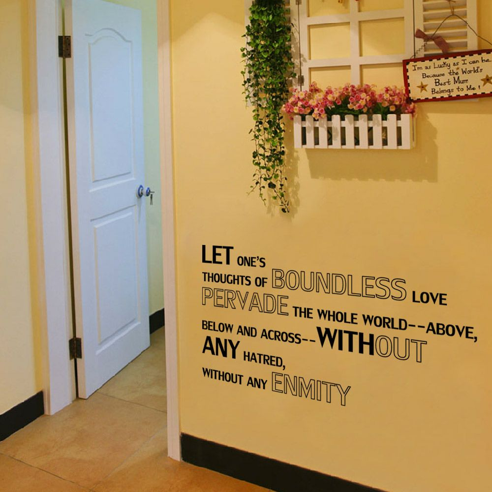 Black 20 X 57 Cm Dsu Bedroom Decal Boundless Love Quote Wall Sticker ...