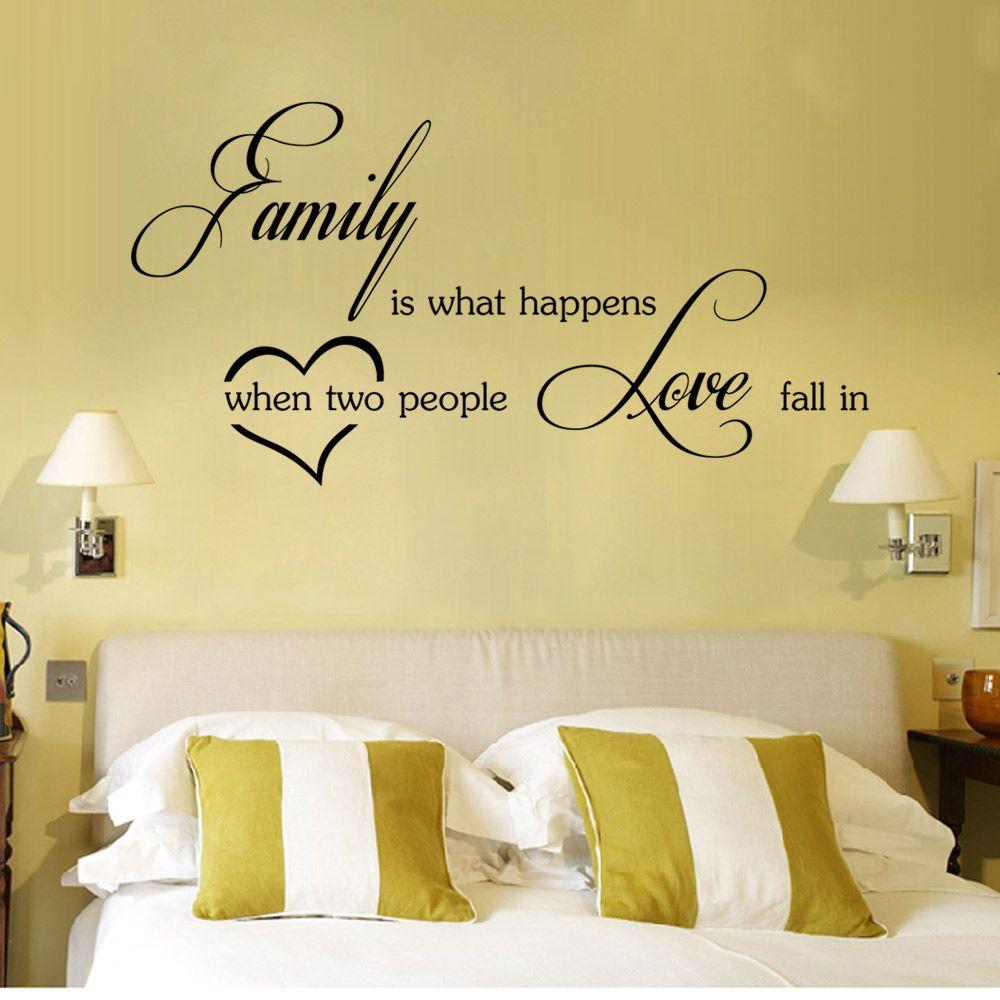 Black 29 X 58 Cm Dsu Love Family Wall Sticker Self-adhesive ...