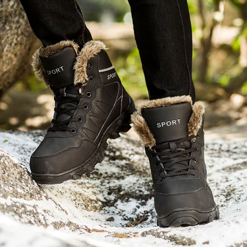 167aa1d79 2017 New Big Size Fashion Men Winter Snow Boots Outdoor Sport Winter Warm  Climing Shoes