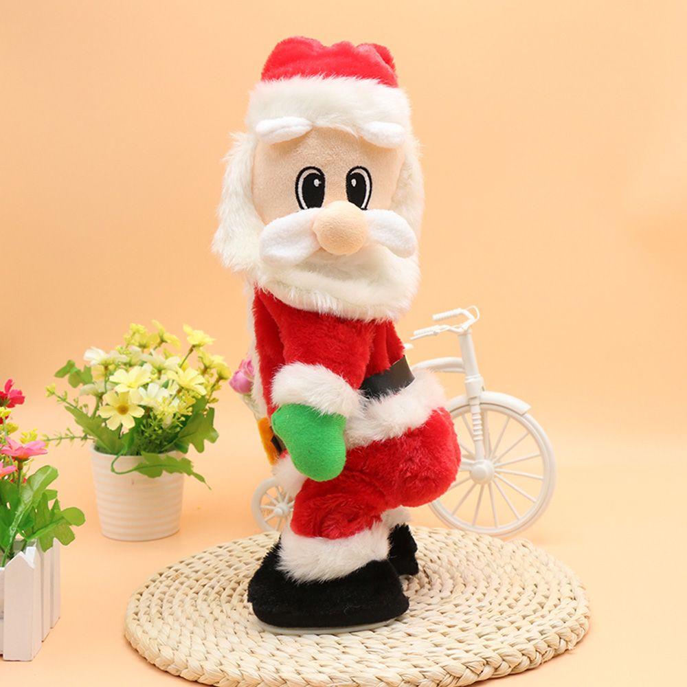Red Electric Plush Spanking Santa Claus   RoseGal.com
