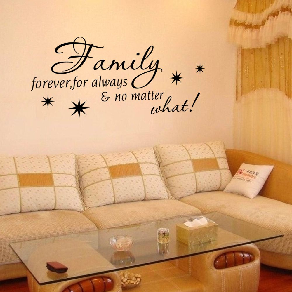 Black 42.2 X 58 Cm Home Love Resides Family Quotes Wall Sticker Home ...