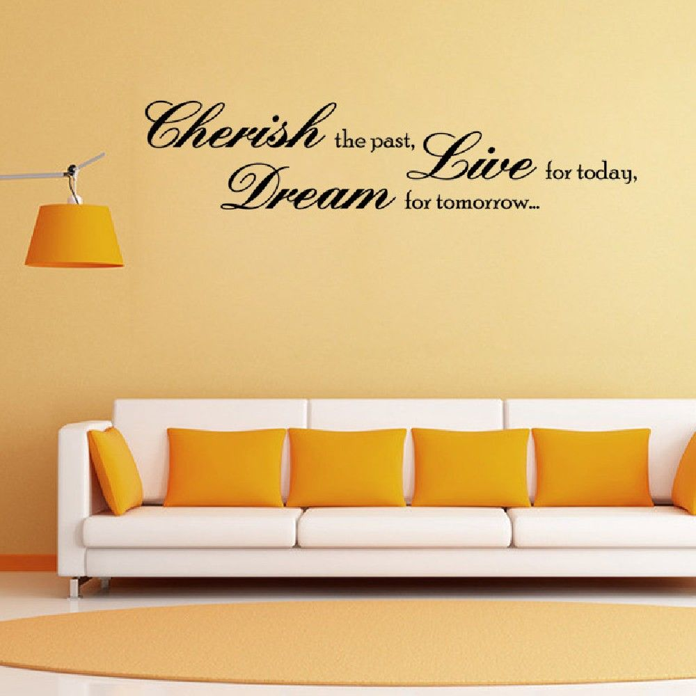 Black 19 X 57 Cm Dsu Cherish The Paste Dream Tomorrow Live Today ...
