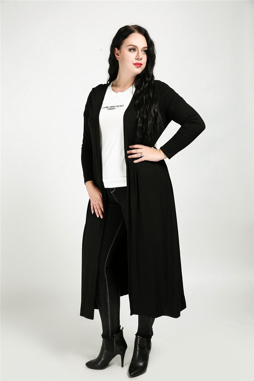 81bb4981766 Cute Ann Women s Sexy Long Sleeve Maxi Open Front Plus Size Duster Cardigan  Sweaters